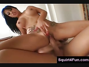Squirting On His Dick While Riding Him
