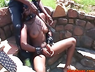 Master Torturing Busty African...