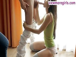 Skinny Brunette teen Livia...