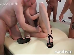 Picture Skinny Young Girl 18+ Slut Brutally Gang Ban...