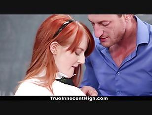 Picture InnocentHigh - Sexy Redhead Fucks Teacher