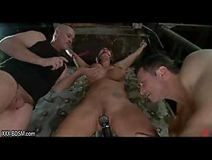 Bondage girl gets pussy stimulation with device