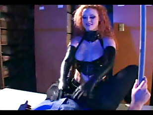 Redhead Fucking In Gloves...