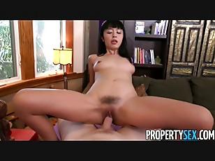 Japanese tenant fucks her landlord