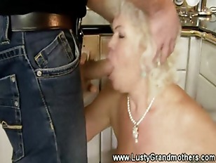 Picture Old Mature GILF Fond Of Footjobs