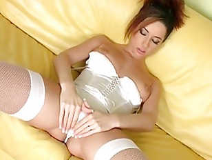 Picture Masturbation In Fishnet Stockings And Pantie