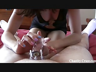 This hard chastity device...