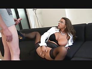 Sexy Susi  German Mommy Big Tits Secretary Anal Stockings