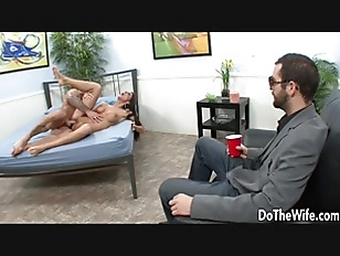 Husband Watches Young Wife...