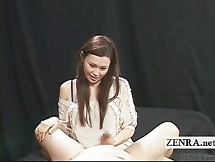 Picture Subtitled CFNM Pale Japanese Teasing Dominat...