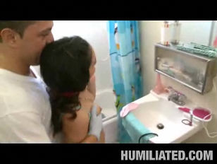Picture Hot Brunette Bathroom Sex