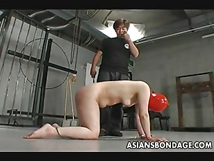 Shackled Japanese Chick Is...