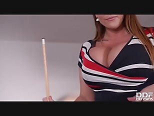 Loads and loads of white cum all over busty Laura Orsolya's pretty big tits