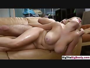 Blonde big tits maid fucking big dong sideways