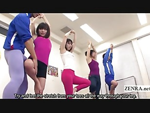 Picture Subtitled Japanese Yoga Stretching Class Cra...