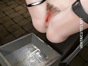 Chesty 3d hentai slut gets banged