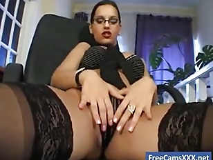 Masturbation stockings secretary in