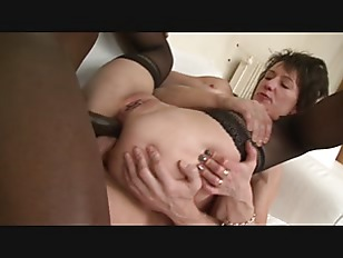 Picture Brunette Milf Fuck By Black And White Cock