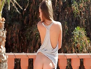 Picture Brunette Have Sexy Garden Shower