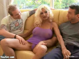 Picture Sexy Blonde Grandma Gets Double Teamed
