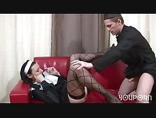 Naughty Nun Punished...