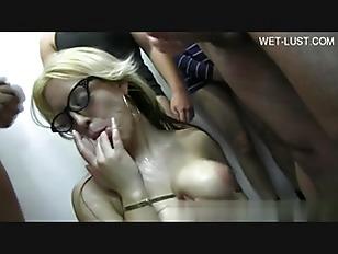 Picture Blonde Slut Hard Gangbang