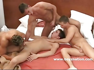Picture Four Young Smooth Horny Gay Guys In Deep Gro...