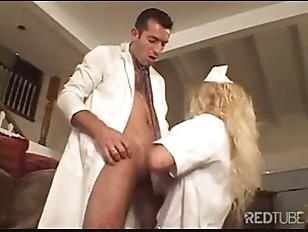 Picture White Stockings Blond Nurse Fucked Hard