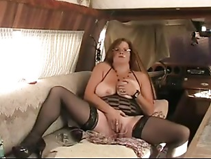Picture BBW Granny Fucks Ass With Dildo While Smokin