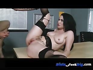Sexy brunette fucked hard