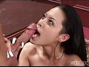 Young Latina On Facial...
