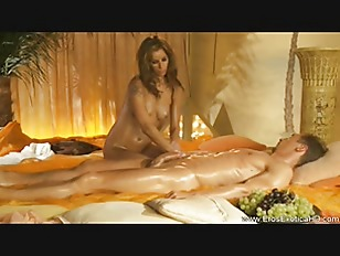 Stunning Massage Blonde Relaxes...