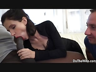 Brunette housewife takes a...