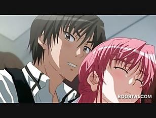Sensual anime  babe giving her coed a boner