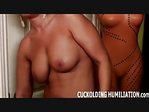 Asian shebabe caresses her perfect bigtits and shaved dick