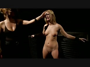 Tied down blonde useless slut gets her clit pegged