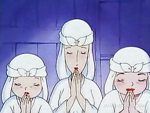 First Time Anime Porn - Naked anime nun having sex for the first time