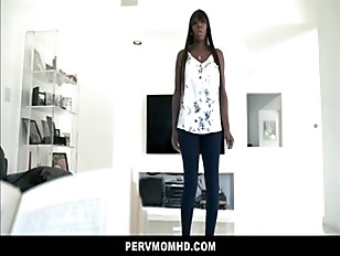 Big Tits Big Ass Black Step Mom Fucked By White Step Son In Family Kitchen POV