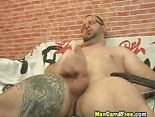 Horny stalion jacking his hardcock