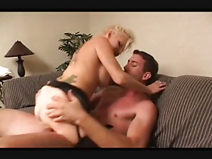 Blonde milf big tits in stocking fucks great (MC)