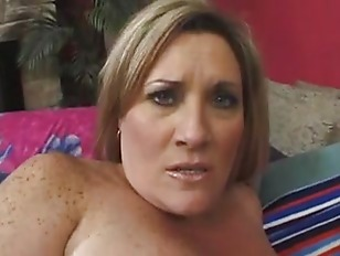 Picture Mature BBW Gets Her Big Freckled Tits Jizzed...