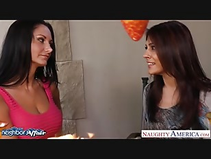 Hot Neighbors Ava Addams And Raylene Lick Twats And Share Cock
