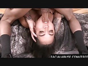 Cute Asian throat fucked...
