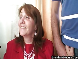 Picture Old Bitch Takes Two Cocks