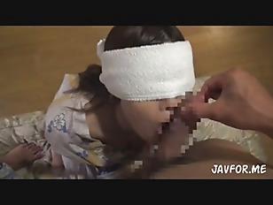Asian Babe Blindfolded And...