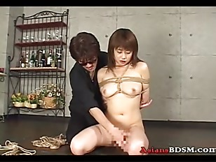 Picture Hot Slut Hogtied And Swinging With Hot Wax O...