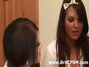 Picture Four British CFNM Babes Strip And Jerk Off C...