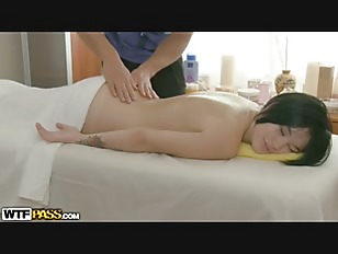 Tattoed Hottie On Massage...