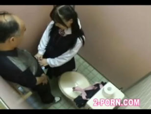 Schoolgirl fucked in the...