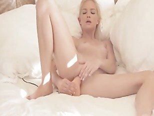 Charming Blond Babe In...